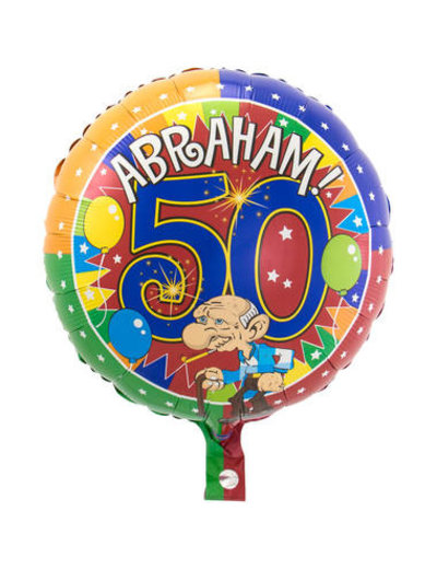 Folieballon Abraham Knalfeest - 43cm