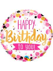 Folieballon Happy Birthday to You Pink - 45cm