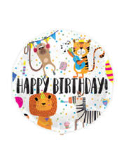 Folieballon Happy Birthday Animals - 45cm
