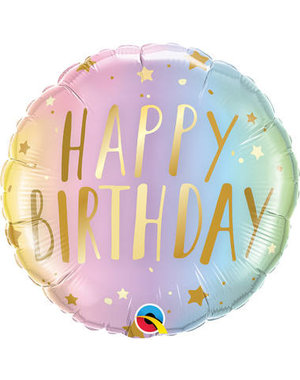 Folieballon Happy Birthday  Ombre - 45cm