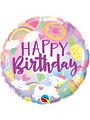 Folieballon Happy Birthday  Eenhoorn - 45cm