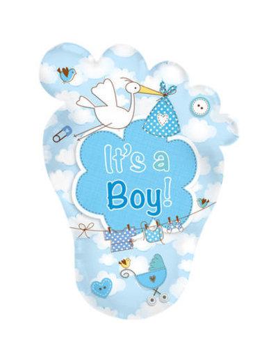 Folieballon Babyvoetje It's a Boy - 46x70cm