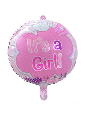 Folieballon It's a Girl - 43cm
