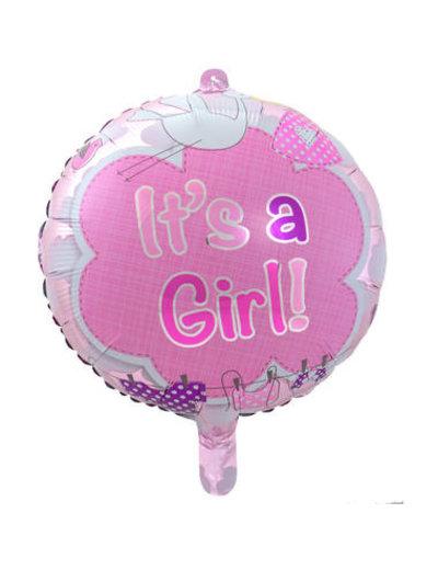 Folieballon It's a Girl - 43cm