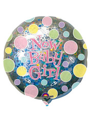 Folieballon New Baby Girl  - 81cm