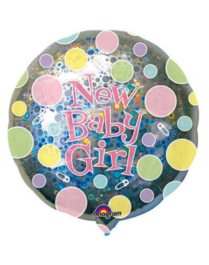 Folieballon New Baby Girl  - 81cm