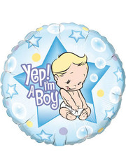 Folieballon Yep i'm a Boy - 46cm