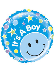 Folieballon It's a Boy Stars - 53cm