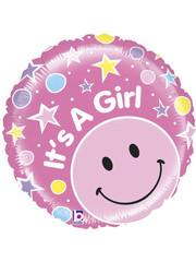 Folieballon It's a Girl Stars - 53cm