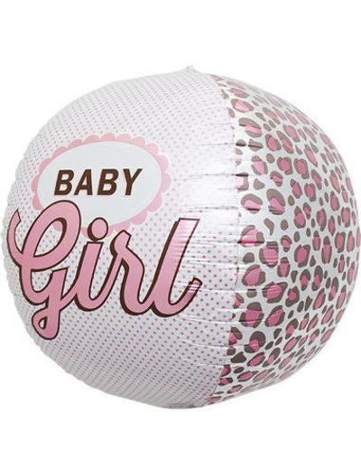 Folieballon Baby Girl Tijger - 43cm