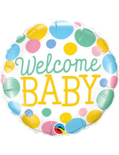 Folieballon Welcome Baby - 45cm