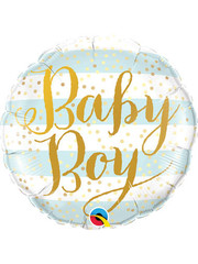 Folieballon Baby Boy Gold - 45cm