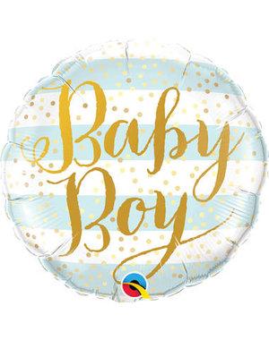 Folieballon Baby Boy Gold - 45cm