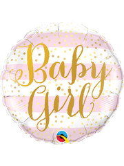 Folieballon Baby Girl Gold - 45cm
