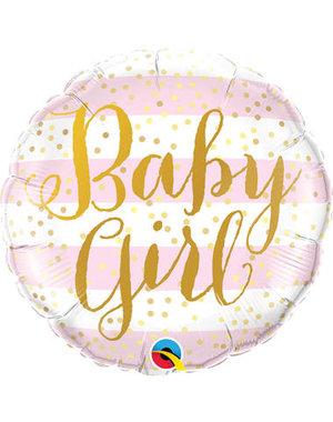 Folieballon Baby Girl Gold - 45cm