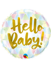 Folieballon Hello Baby Gold - 45cm