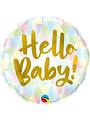 Folieballon Hello Baby Gold - 45cm