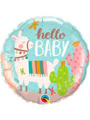 Folieballon Hello Baby Lama - 45cm
