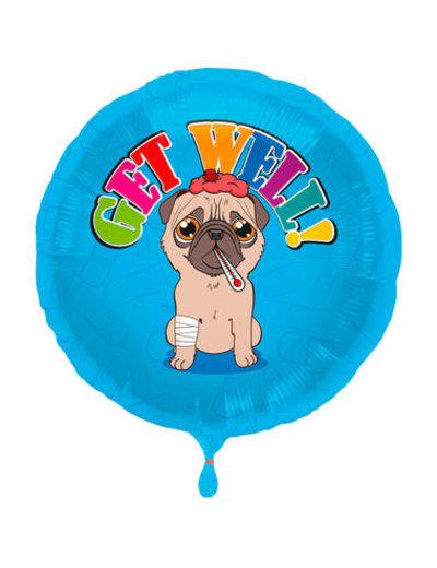 Folieballon Get Well - 45cm