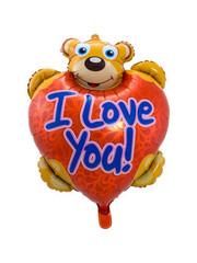 Folieballon I Love You Teddybeer - 80x57cm