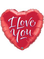 Folieballon I Love You Hart - 46cm