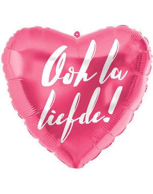 Folieballon Ooh La Liefde - 45cm