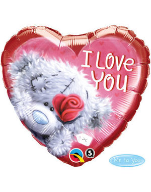 Folieballon I Love You Beertje - 46cm