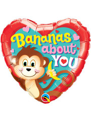 Folieballon Bananas About You - 45cm