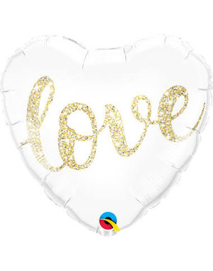 Folieballon Love Gold - 46cm