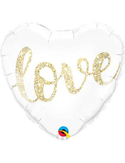 Folieballon Love Gold - 46cm
