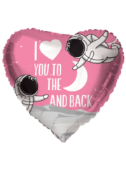 Folieballon Love You to the Moon and Back - 46cm