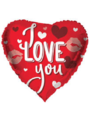 Folieballon I Love You Kisses - 45cm