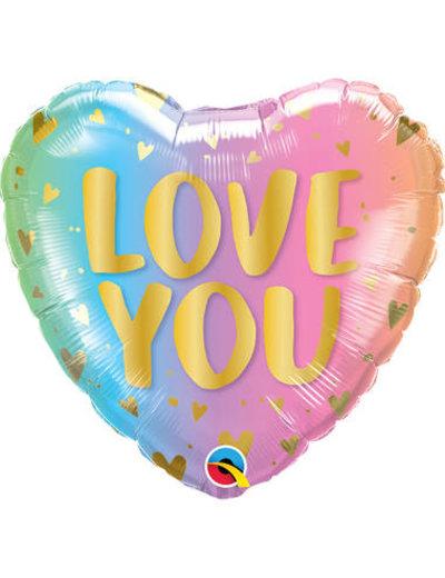 Folieballon Love You Ombre - 45cm