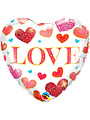 Folieballon Love Hartjes - 45cm