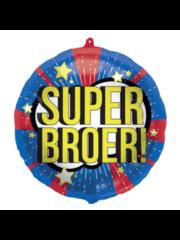 Folieballon Super Broer - 45cm