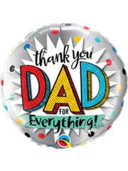 Folieballon Thank You Dad - 45cm