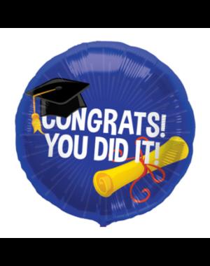 Folieballon Congrats You Did It - 45cm