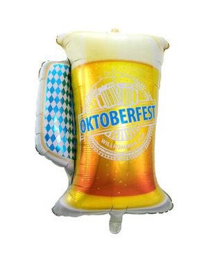 Folieballon Oktoberfest Bierglas - 60x80cm