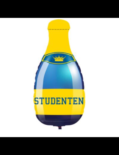 Folieballon Studenten Champagnefles - 33x75cm