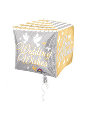 Folieballon Wedding Wishes - 38cm