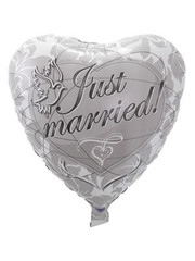 Folieballon Just Married Hart