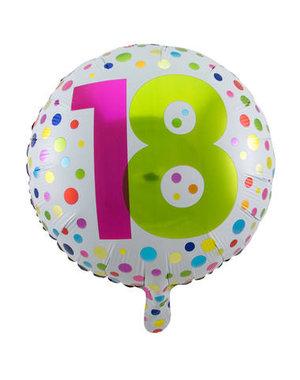 Folieballon  18 Jaar Dots - 45cm