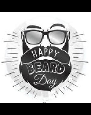 Folieballon Happy Beard Day - 45cm