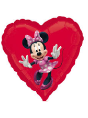 Folieballon Minnie Mouse Hart