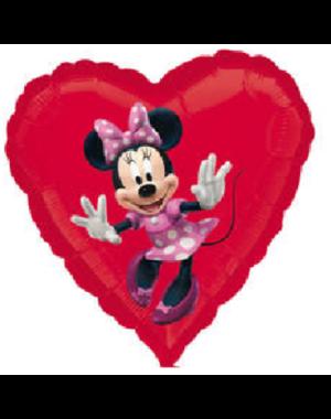 Folieballon Minnie Mouse Hart