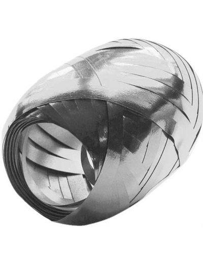 Ballonnenlint Bolletje Zilver Metallic - 20mtr/5mm