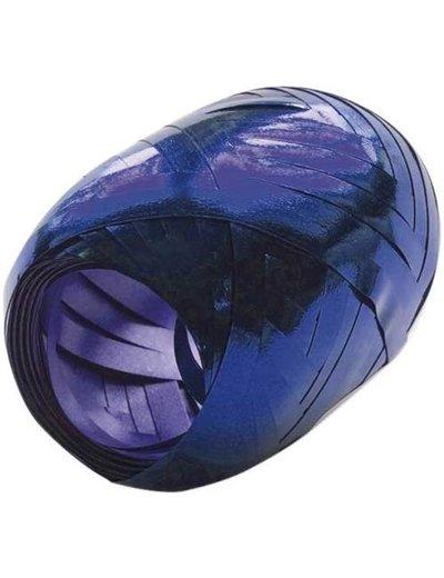Ballonnenlint Bolletje Blauw Metallic - 20mtr/5mm