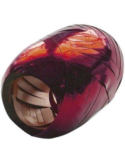 Ballonnenlint Bolletje Rood Metallic - 20mtr/5mm