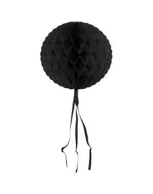 Honeycomb Zwart Rond - 30cm