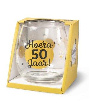Wijnglazen Wijn/Waterglas - Hoera 50